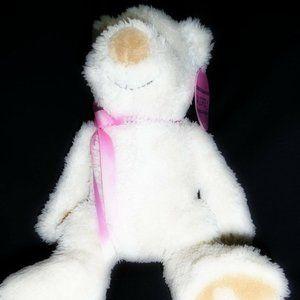 AUDREY Silk & Satin Teddy Bear w/ Removable Choker